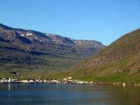 Seyðisfjörður seen from the sea