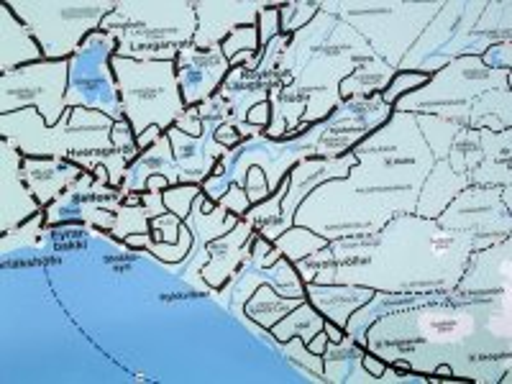 A map of the Hveragerdi Aera