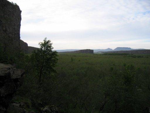 Ásbyrgi, the mark of the hoof of Odinn's horse, Sleipnir