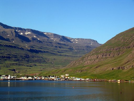 Seyðisfjörður seen from the sea