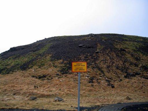Caution, hot spring!