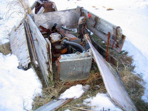 An old boat motor in Reykjavik