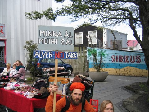 Protest against Alcoa in Reykjavik sumer 2006